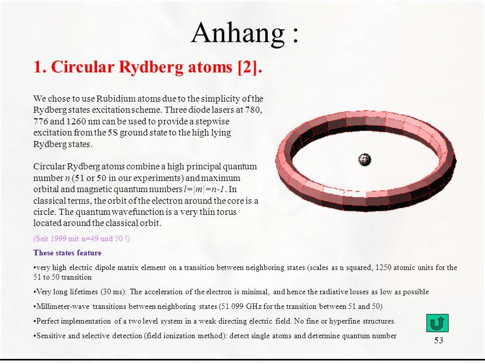 Anhang : 1. Circular Rydberg atoms [2].